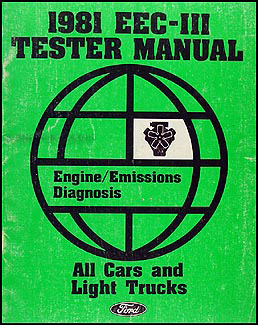 1981 Ford EEC-III Tester Engine Emissions Diagnosis Manual