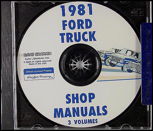 1981 Ford Truck and Van Repair Manual CD
