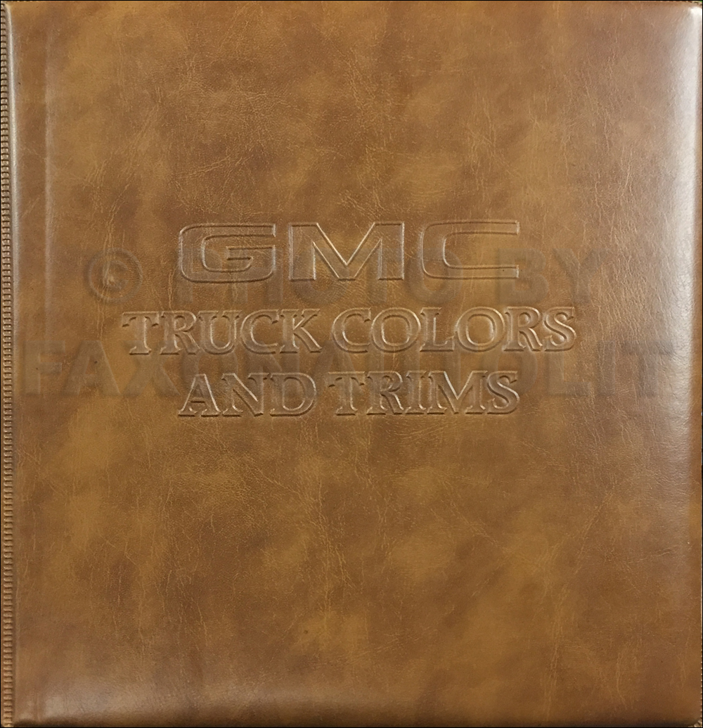 1981 GMC Color & Upholstery Dealer Album Original
