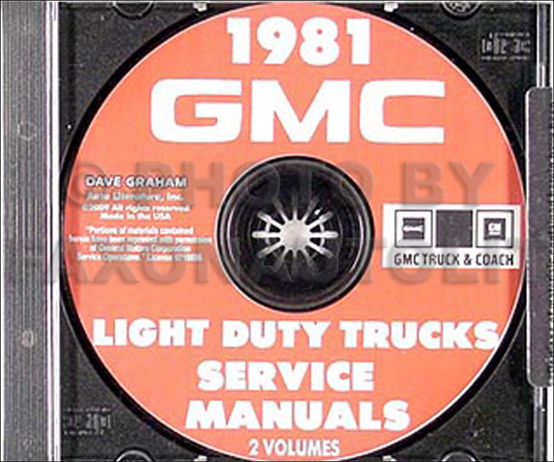 CD 1981 GMC 1500-3500 Truck Repair Shop Manual Pickup Jimmy Suburban Van FC
