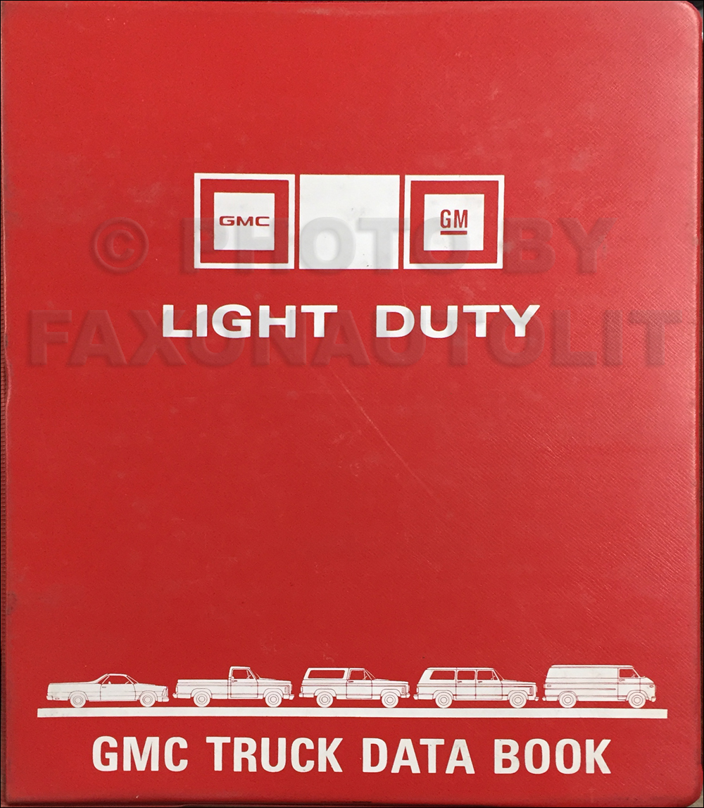 1981 GMC Light Duty Data Book Original