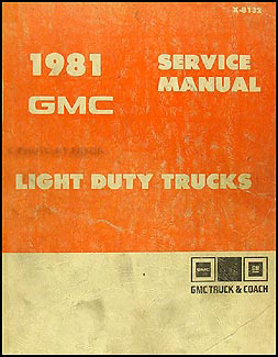 1981 GMC 1500-3500 Truck Repair Shop Manual Pickup, Jimmy, Suburban, Van, FC