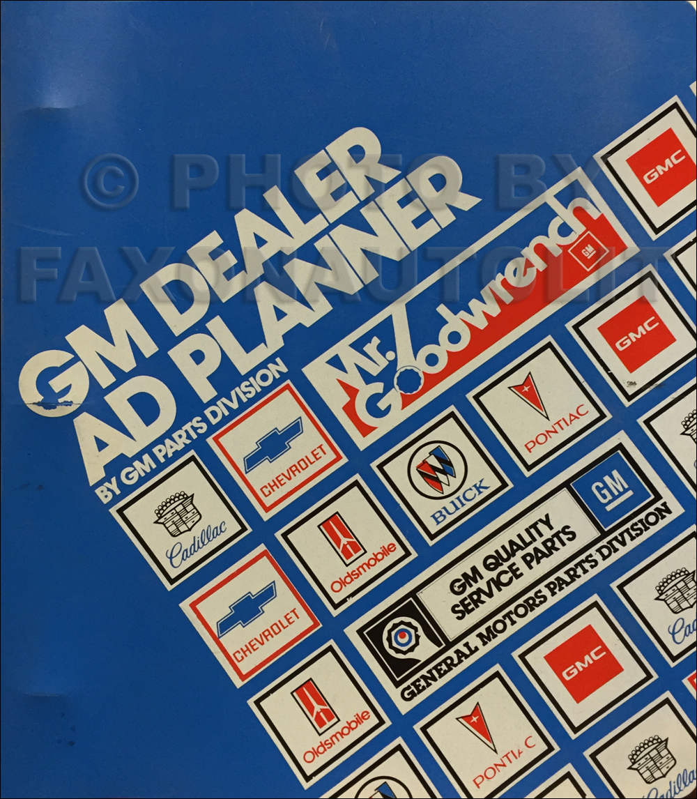 1981 GM Service Merchandising Ad Planner Dealer Album Original