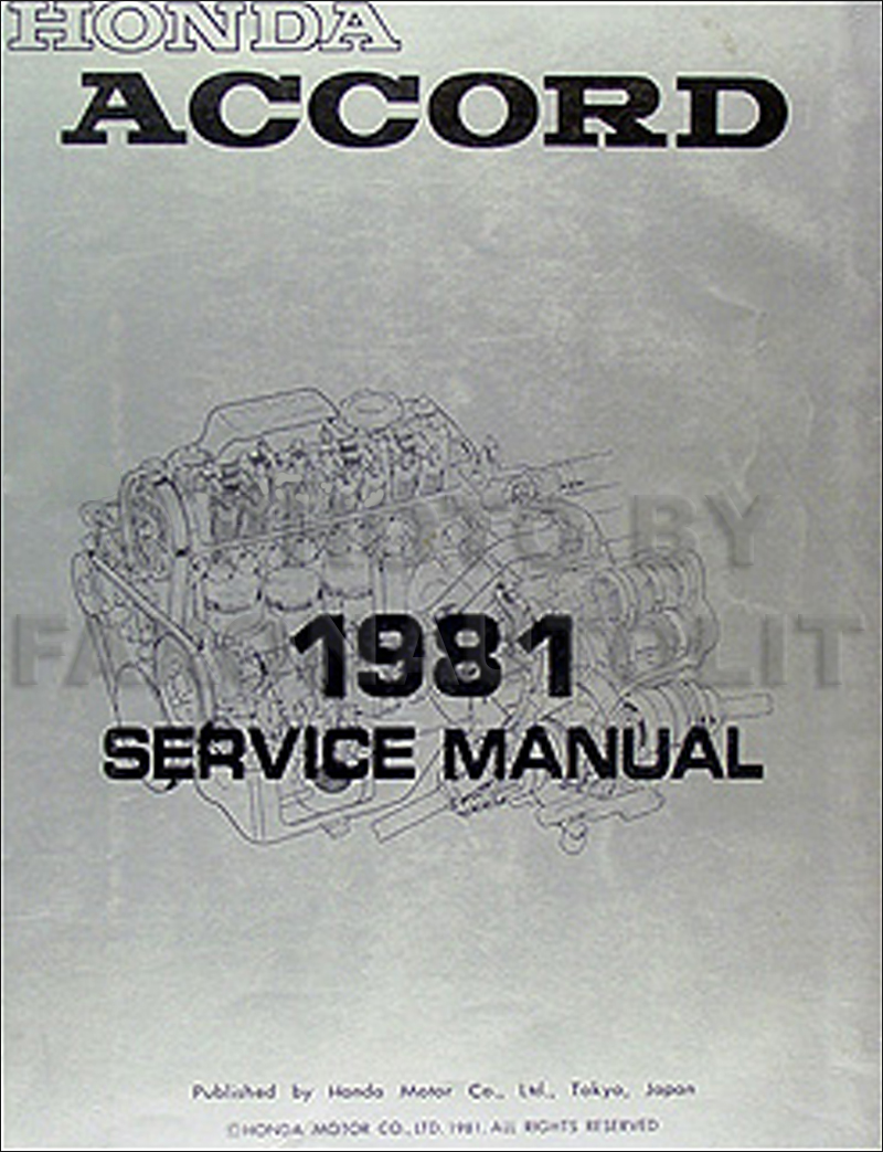 1981 Honda Accord Repair Manual Original