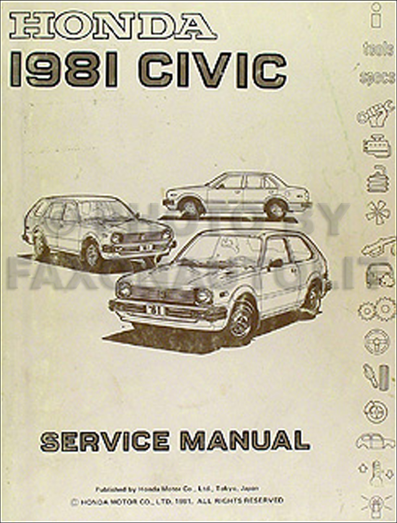 1981 Honda Civic Repair Manual Original