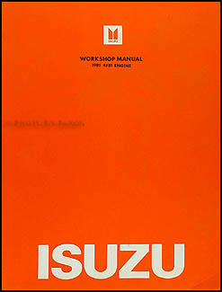 1981 Isuzu P'up Gasoline Chassis & Engine Repair Manual Original