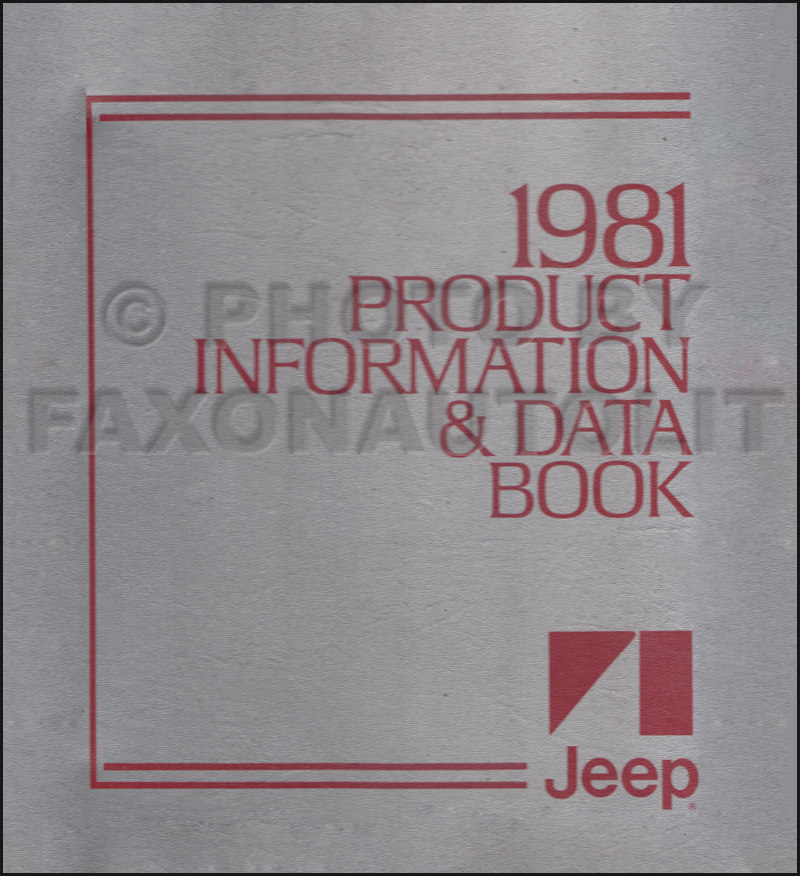 1981 Jeep Color & Upholstery Album and Data Book Original