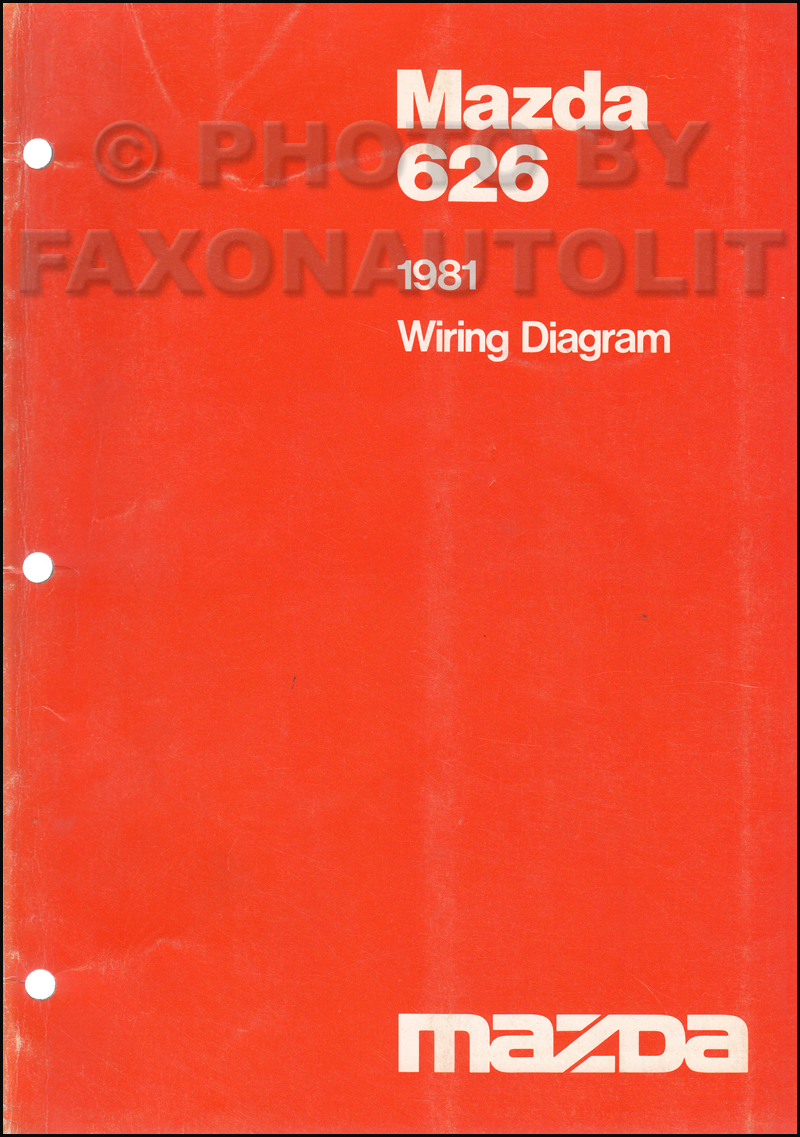 1981 Mazda 626 Wiring Diagram Manual Original