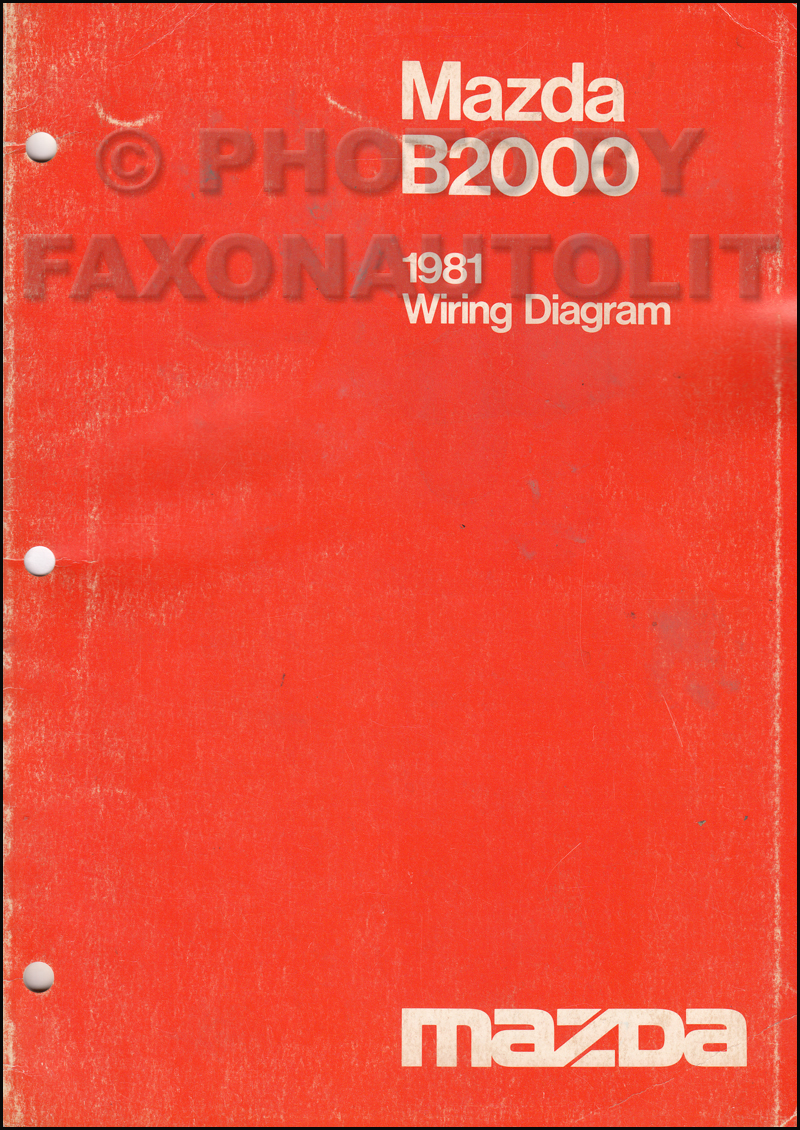 1981 Mazda B2000 Pickup Truck Wiring Diagram Manual Original
