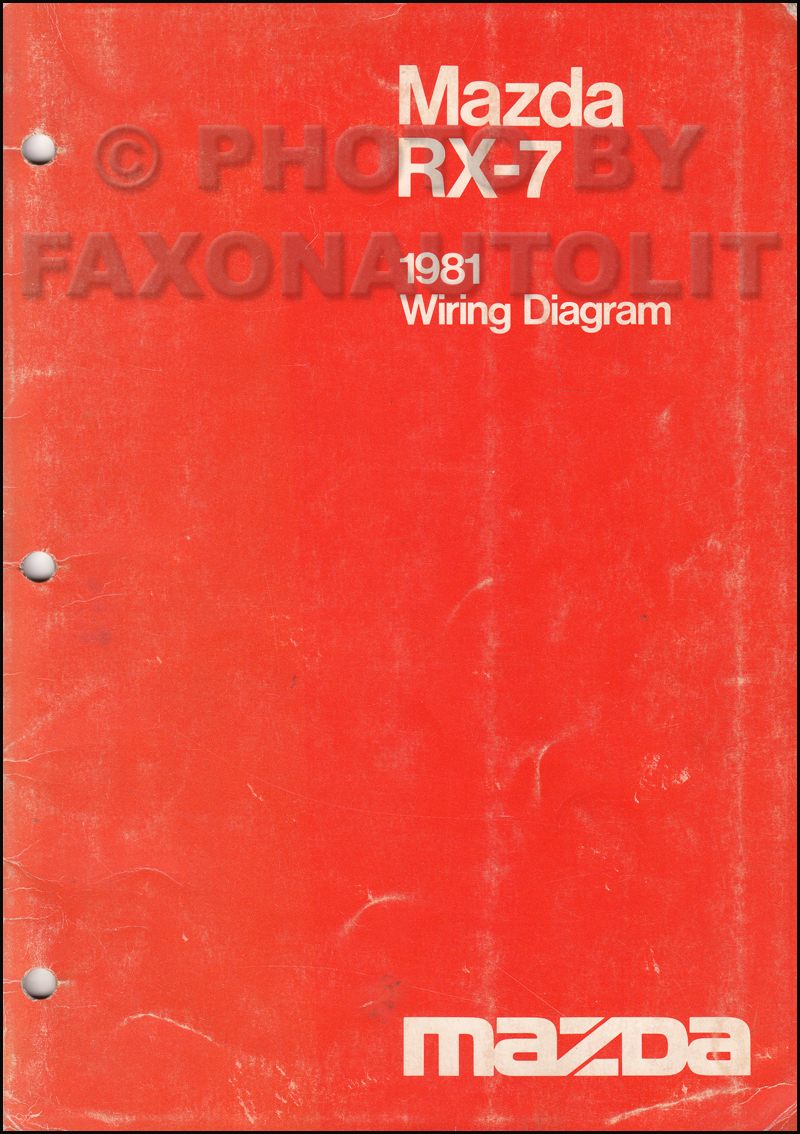 1981 Mazda RX-7 Wiring Diagram Manual Original RX7