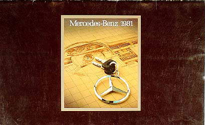 1981 Mercedes Original Sales Catalog -- All Models