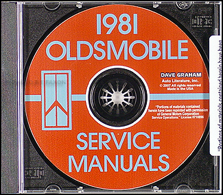 1981 Oldsmobile CD-ROM Shop Manual, Body Manual, & Electrical Manual
