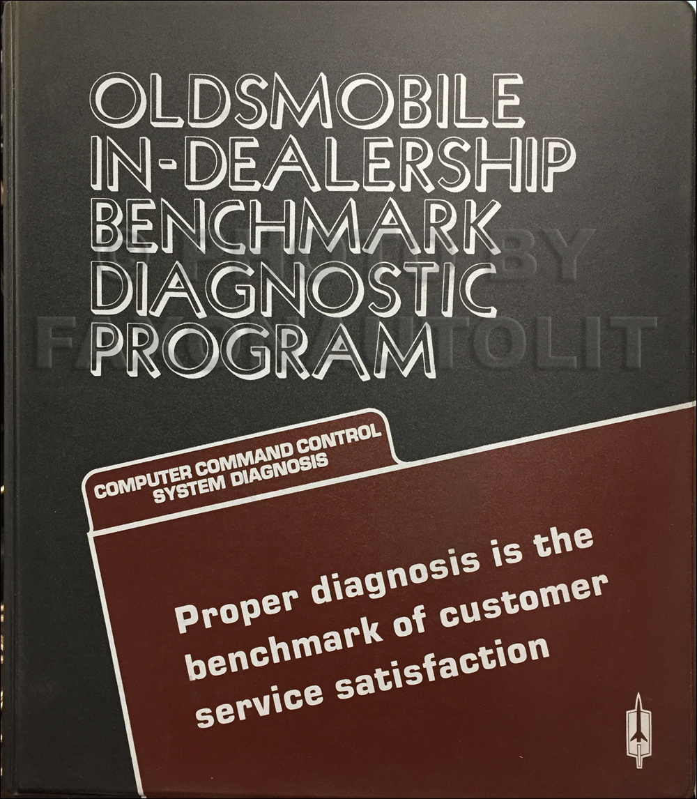 1981 Oldsmobile Benchmark Diagnositc Program Service Training Manual Original