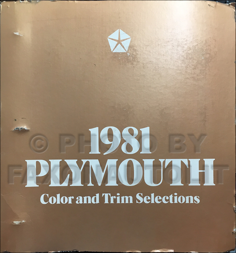 1981 Plymouth Color & Upholstery Dealer Album Original