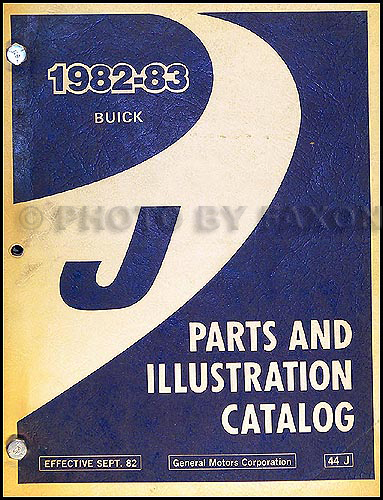 1982-83 Buick Skyhawk Parts Book Original