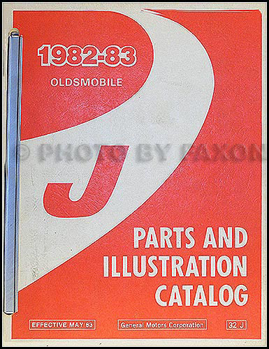1982-1983 Oldsmobile Firenza Parts Book Original