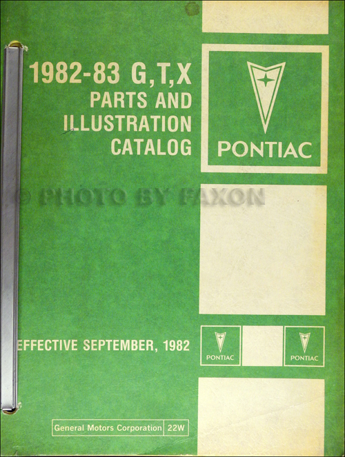 1982-1983 Pontiac Parts Book Original Bonneville Grand Prix T1000 Phoenix