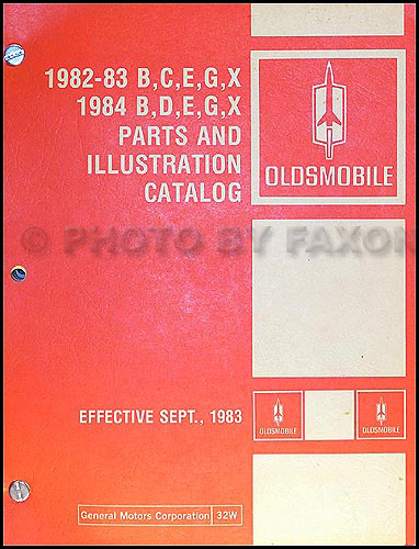 1982-1984 Oldsmobile Parts Book Original 88 98 Toronado Cutlass Supreme/Calais Omega