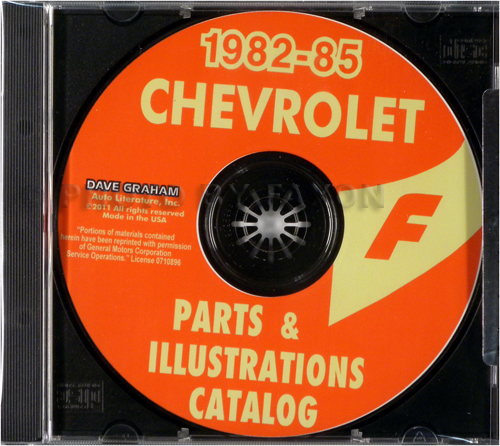 1982-1985 Chevrolet Camaro Parts Book CD-ROM