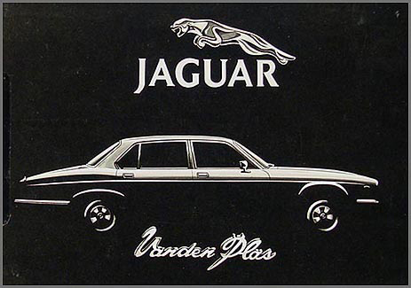 1982 Jaguar XJ6 Vanden Plas Owner's Manual Supplement Original