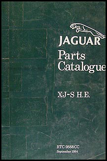 1982-1985 Jaguar XJ-S 12 Cylinder Parts Book Original