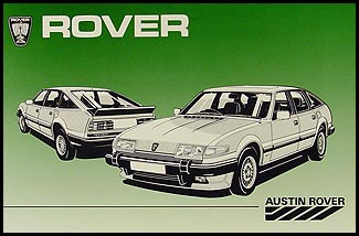 1982-1986 Rover 3500 Owner's Repair Manual