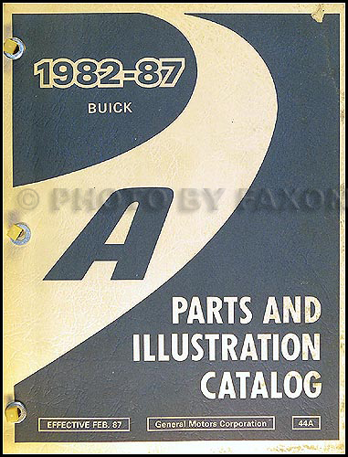 1982-87 Buick Century Parts Book Original