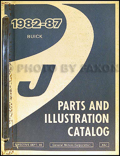 1982-87 Buick Skyhawk Parts Book Original