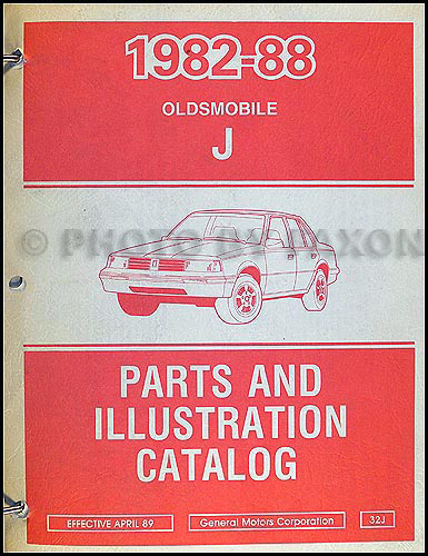 1982-1988 Oldsmobile Firenza Parts Book Original