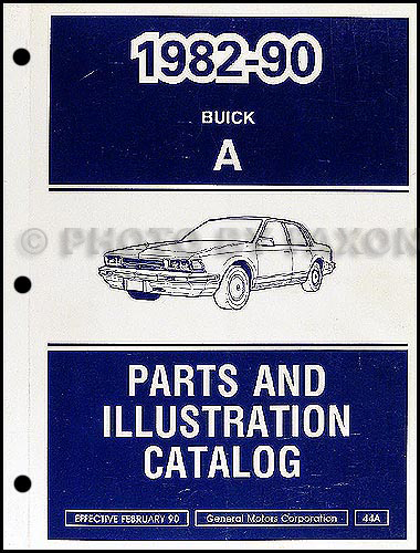 1982-90 Buick Century Parts Book Original