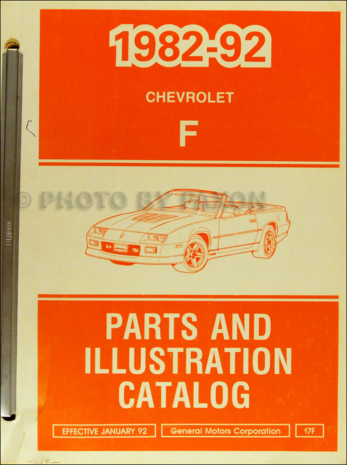 1982-1992 Chevrolet Camaro Parts Book Original