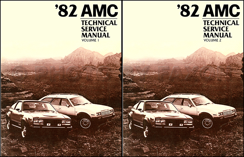 1982 AMC Shop Manual Reprint 2 Volume Set