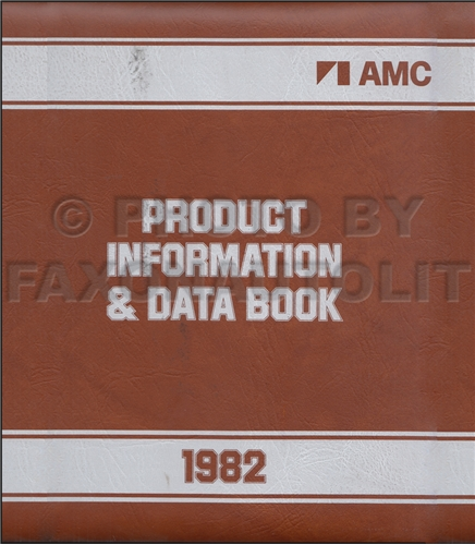 1982 AMC Data Book and Color and Upholstery Album Original