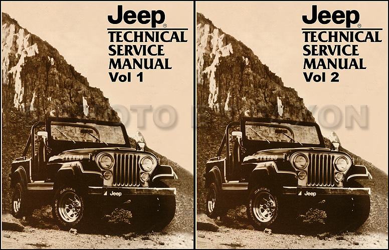 1982 Jeep Shop Manual Reprint - All models 2 Volume Set