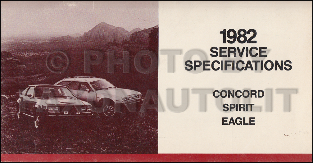 1982 AMC Service Specifications Manual