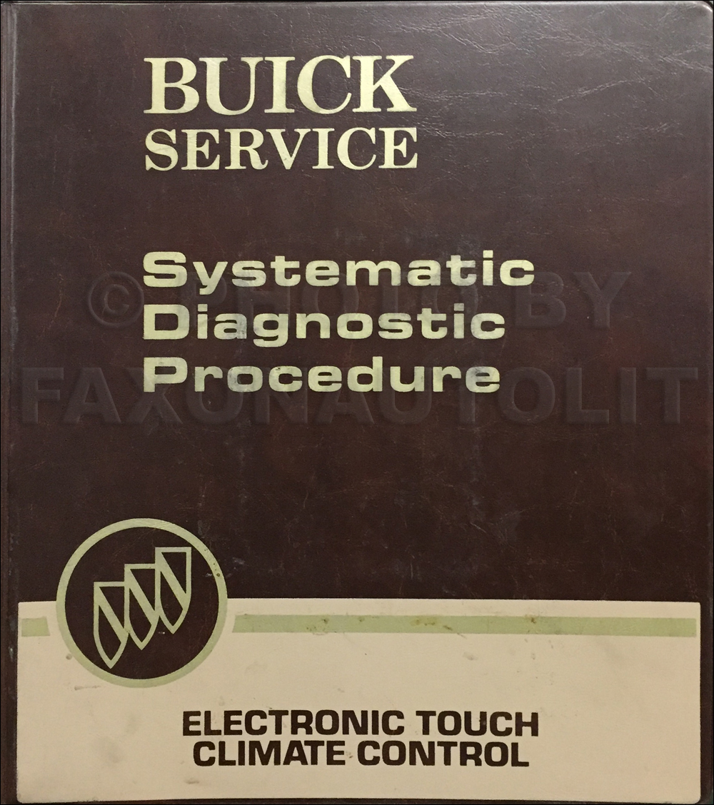 1980-1981 Buick Service Training Manual Original Electronic Touch Climate Control