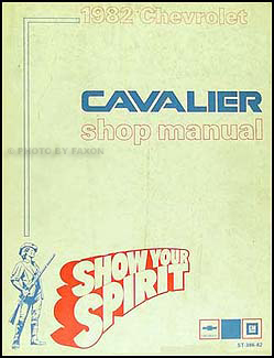 1982 Chevy Cavalier Repair Manual Original