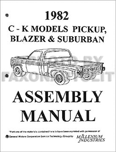 1982 Chevy GMC CK Assembly Manual Reprint Pickup Suburban Blazer Jimmy