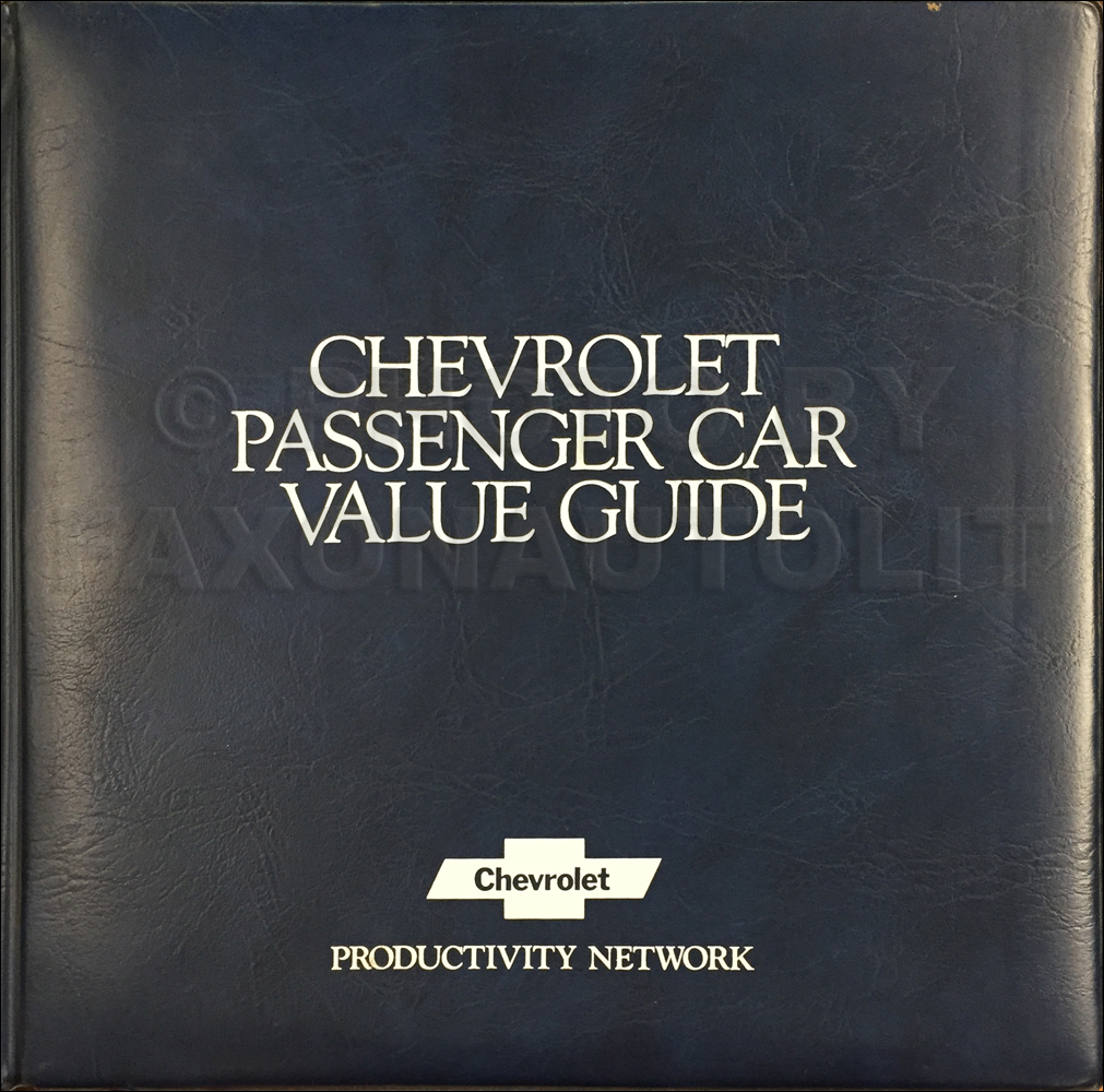1982 Chevrolet Car Color & Upholstery Dealer Album/Data Book Original