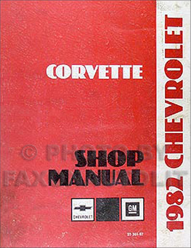 1982 Corvette Repair Manual Original