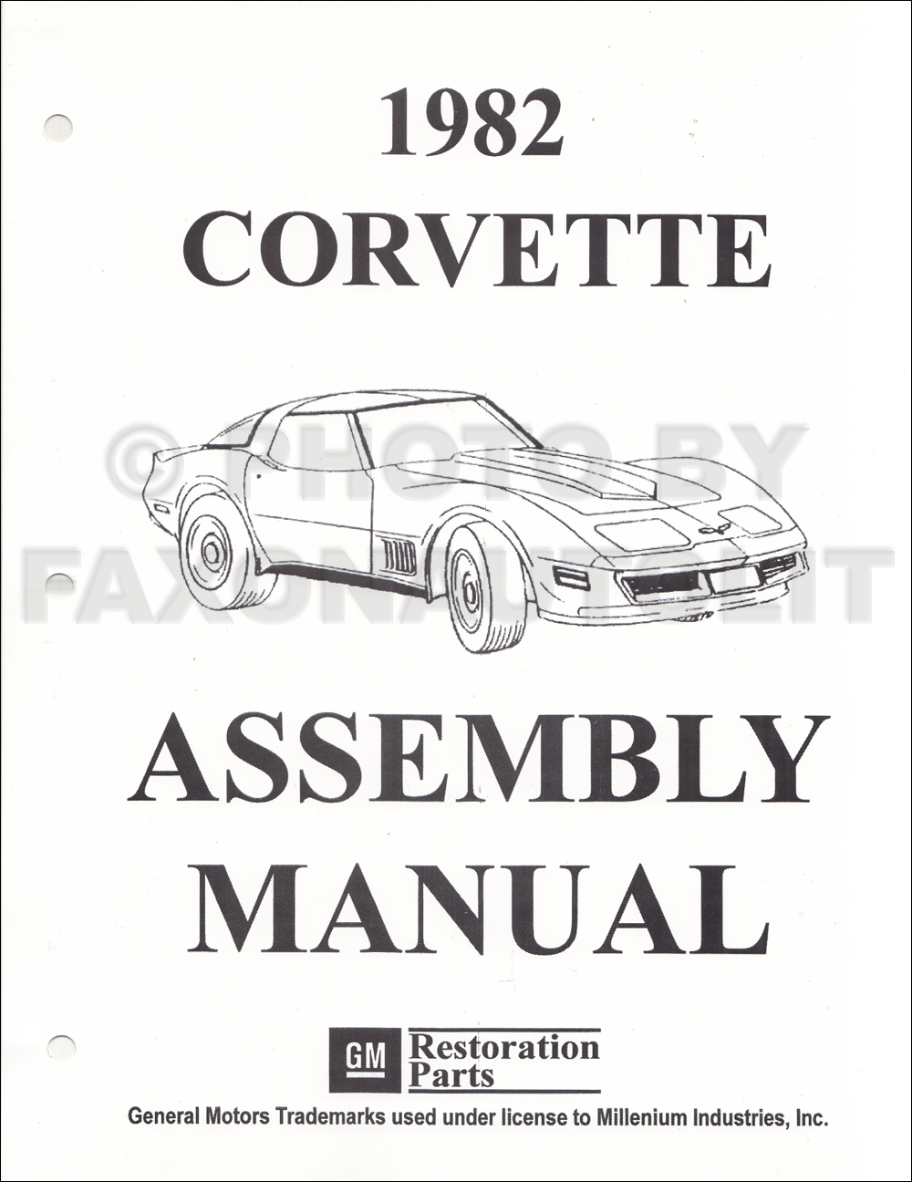 1982 Corvette Factory Assembly Manual Reprint