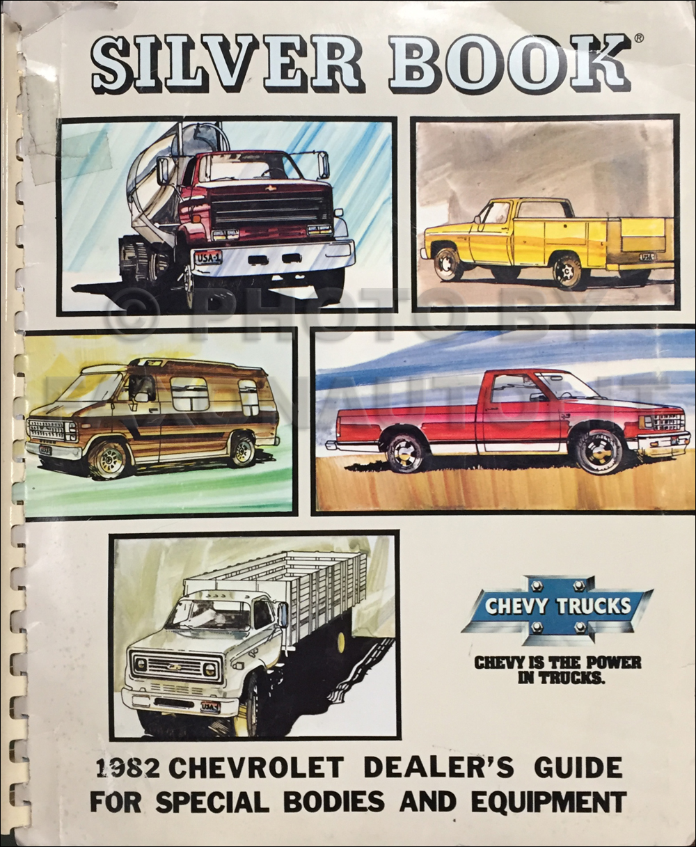 1982 Chevrolet Truck Silver Book Special Equipment Dealer Album