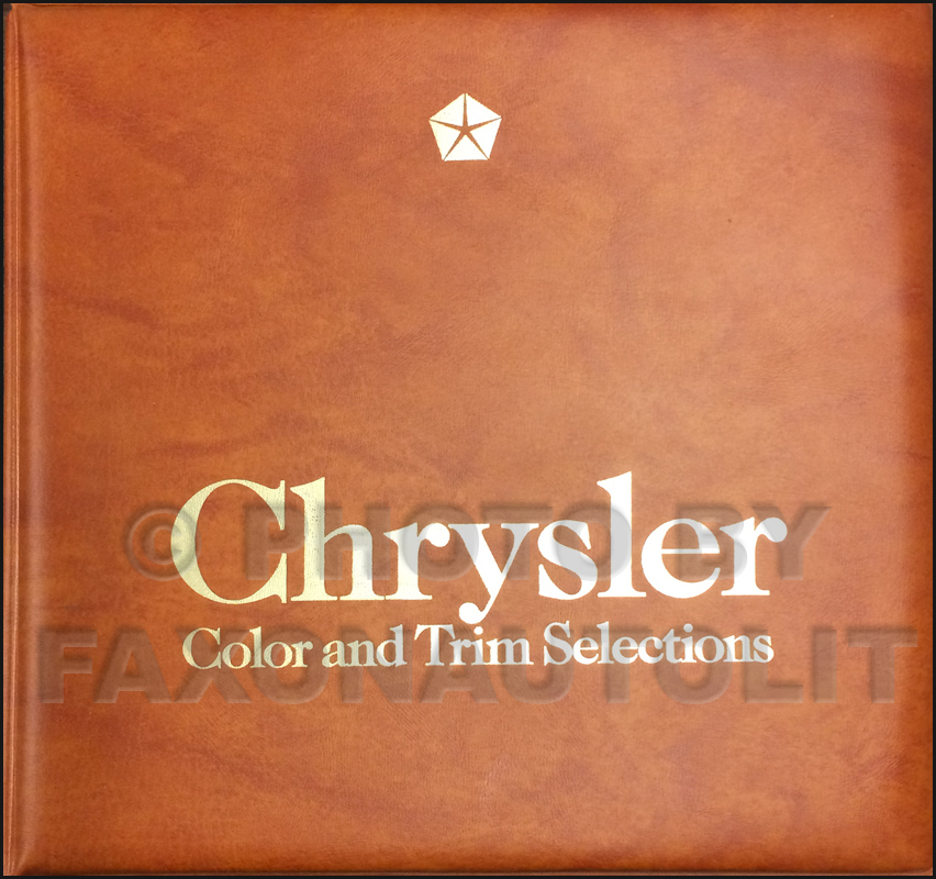 1982 Chrysler Color & Upholstery Dealer Album Original