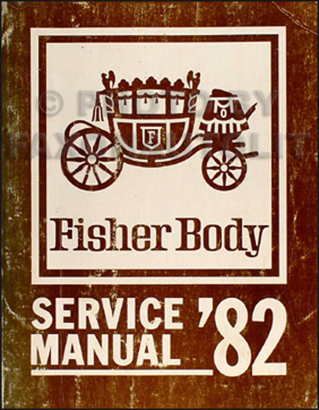 1982 Chevy Original Body Repair Shop Manual