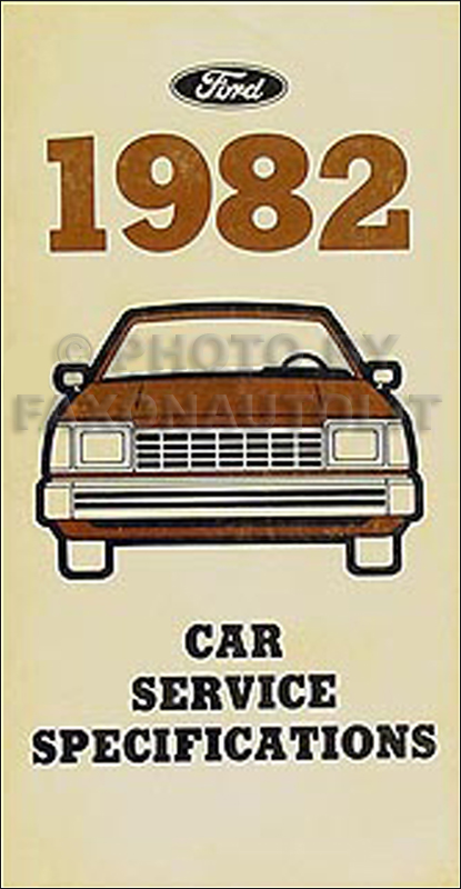 1982 Ford Lincoln Mercury Service Specifications Book Original