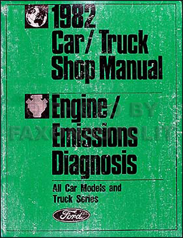 1982 Ford Lincoln Mercury Engine Emission Diagnosis Manual Original