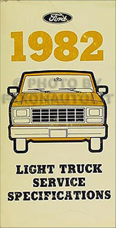 1982 Ford Pickup and Van Service Specifications Book Original