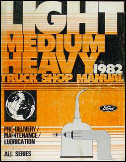 1982 Ford Truck Maintenance and Lubrication Manual Original