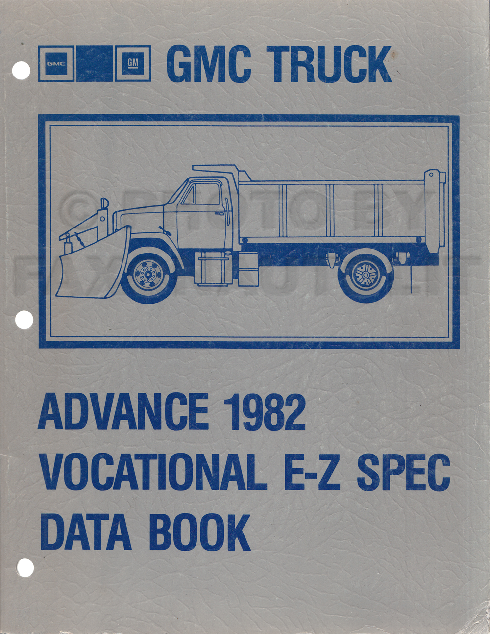 1982 GMC Truck Advance Vocational E-Z Specifications Data Book Original