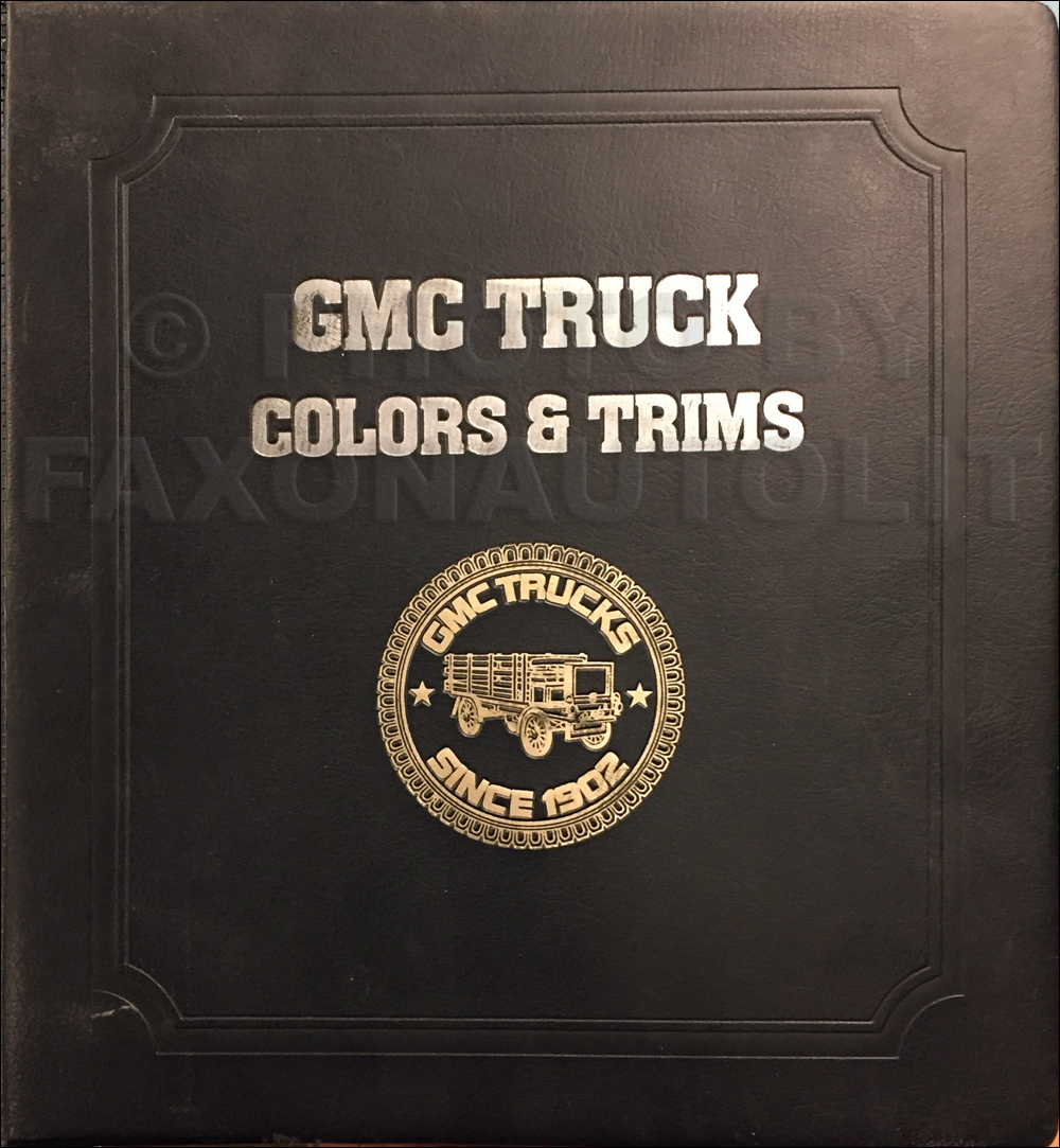 1982 GMC Color & Upholstery Dealer Album Original